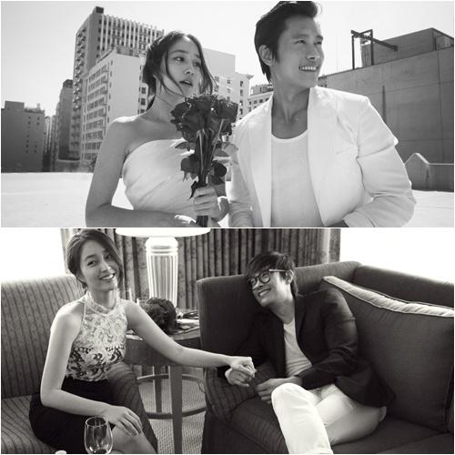 Vợ chồng Lee Byung Hun - Lee Min Jung trong ảnh cưới của họ
