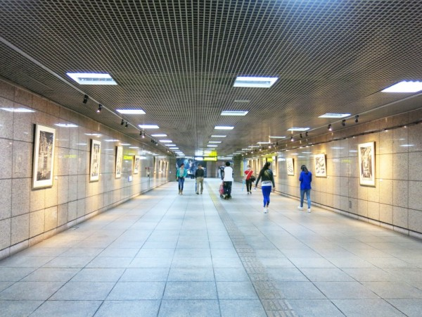 Chỉ là để chứng tỏ ga tàu điện ở Đài Bắc sạch đến mức độ nào.