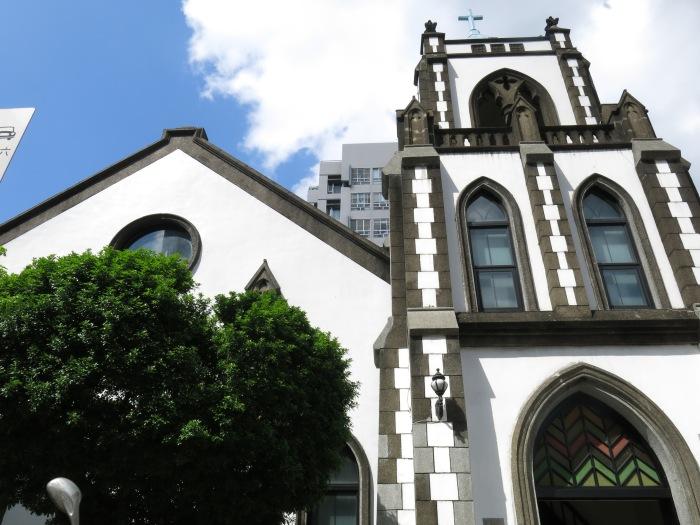 Một nhà thờ công giáo rất đẹp mà tôi ghé qua ở Đài Bắc